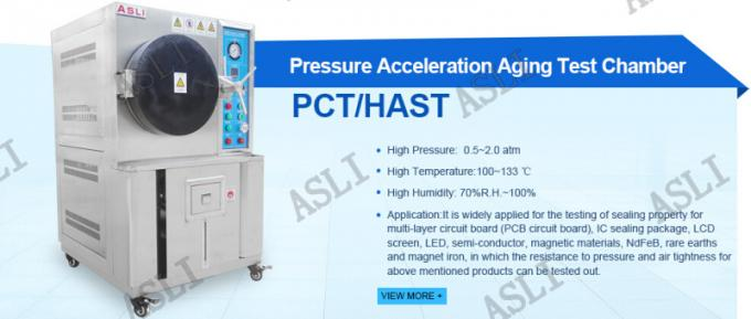 100% humidity Saturated Pressure Cooker Test Chamber / HAST Chamber