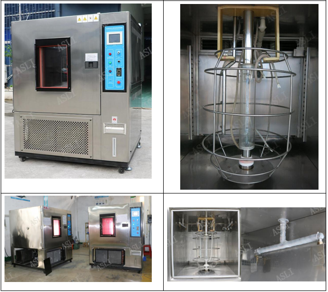 ISO 4892-2 UV Weatherometer Xenon Arc Test Chamber Customized Size And Color For Rubber