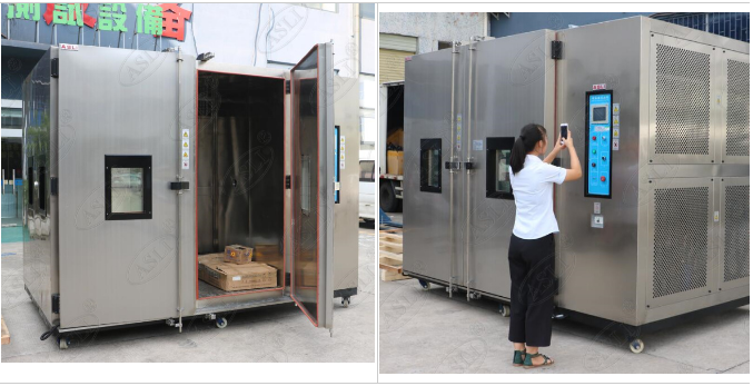 Customized Walk In Climate Chamber Temperature Humidity Test Chamber With Warning System