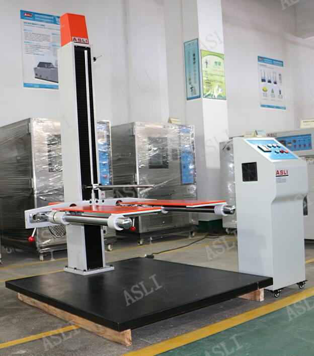 AC 380V Lab Test Equipment / Double Arm Carton Box Drop Test Machine
